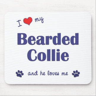 I Love My Bearded Collie (Male Dog) Mouse Pad