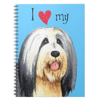 I Love my Bearded Collie Notebook