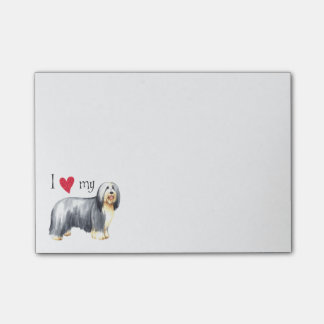 I Love my Bearded Collie Post-it Notes
