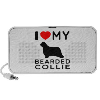 I Love My Bearded Collie iPod Speakers