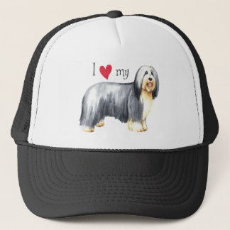 I Love my Bearded Collie Trucker Hat