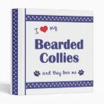 I Love My Bearded Collies (Multiple Dogs) Vinyl Binders