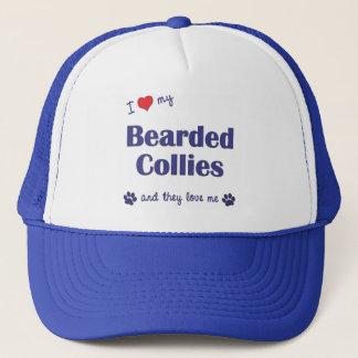 I Love My Bearded Collies (Multiple Dogs) Trucker Hat