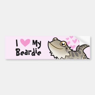 I Love My Bearded Dragon / Rankin Dragon Bumper Stickers