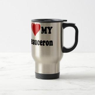 I Love My Beauceron Dog Travel Mug