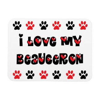 I Love My Beauceron Magnet