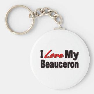 I Love My Beauceron Merchandise Keychain