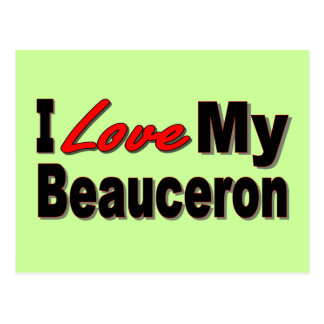 I Love My Beauceron Merchandise Postcard