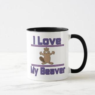 I Love My Beaver Mug
