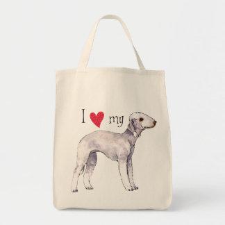 I Love my Bedlington Terrier Tote Bag