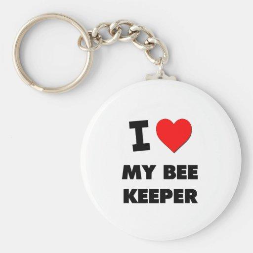 I love My Bee Keeper Key Chain