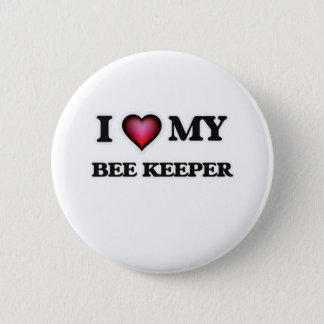I love my Bee Keeper Pinback Button