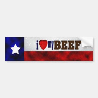 I Love My Beef Car Bumper Sticker