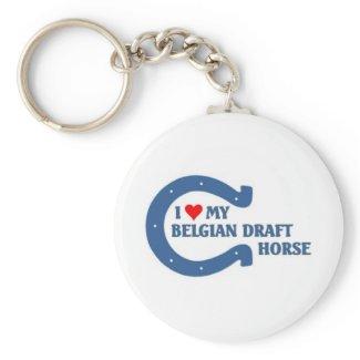 Belgian Draft Horse Keychain