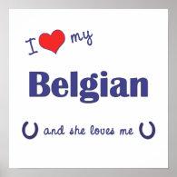 I Love My Belgian (Female Horse) Poster