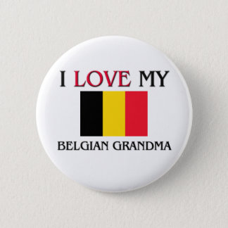 I Love My Belgian Grandma Pinback Button