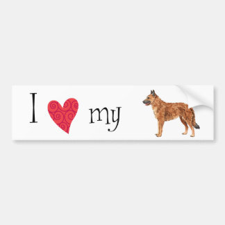 I Love my Belgian Laekenois Bumper Sticker