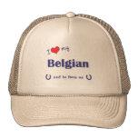 I Love My Belgian (Male Horse) Trucker Hat