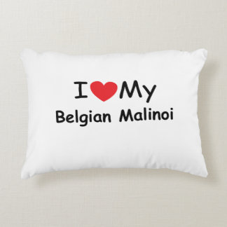I love my Belgian Malinoi dog Accent Pillow