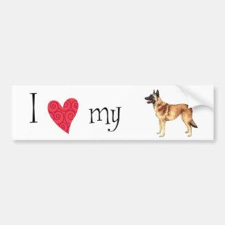 I Love my Belgian Malinois Bumper Sticker
