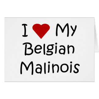 I Love My Belgian Malinois Dog Lover Gifts Card