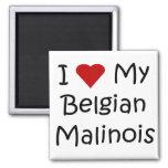 I Love My Belgian Malinois Dog Lover Gifts Fridge Magnets