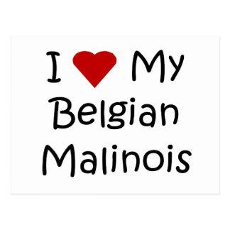 I Love My Belgian Malinois Dog Lover Gifts Postcard