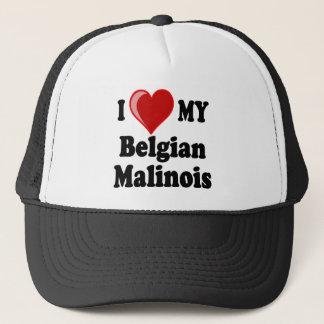 I Love My Belgian Malinois Dog Trucker Hat
