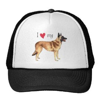 I Love my Belgian Malinois Trucker Hat