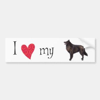 I Love my Belgian Sheepdog Car Bumper Sticker