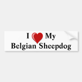 I Love My Belgian Sheepdog Dog Car Bumper Sticker