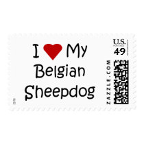 I Love My Belgian Sheepdog Dog Lover Gifts Postage