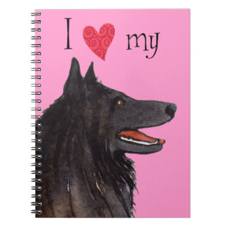 I Love my Belgian Sheepdog Notebook