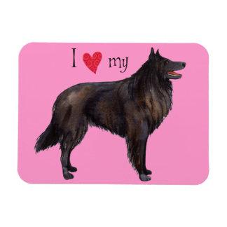 I Love my Belgian Sheepdog Rectangular Magnet