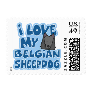 I Love My Belgian Sheepdog Stamps