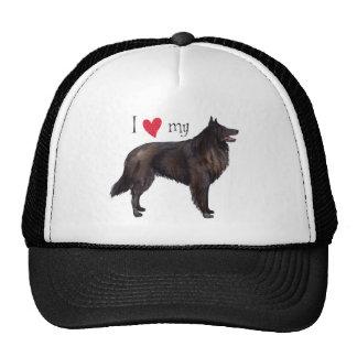 I Love my Belgian Sheepdog Trucker Hat