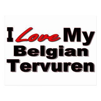 I Love My Belgian Tervured Dog Merchandise Postcard