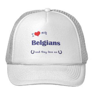 I Love My Belgians (Multiple Horses) Trucker Hat
