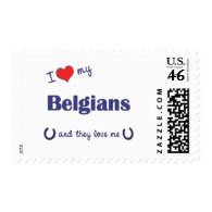 I Love My Belgians (Multiple Horses) Stamps