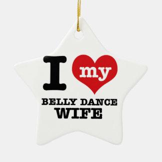 I love my belly dance Boyfriend Ceramic Ornament