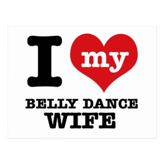 I love my belly dance Boyfriend Postcard