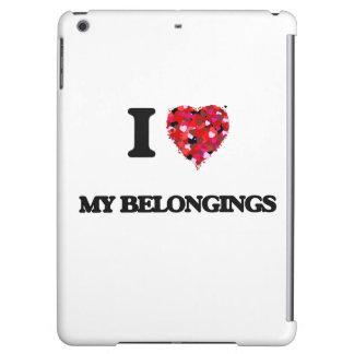 I Love My Belongings iPad Air Covers