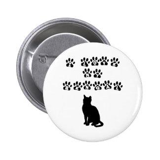 I Love My Bengal--Black Text Pinback Button
