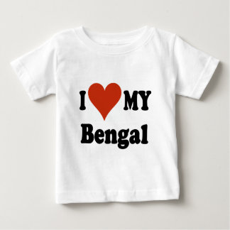 I Love My Bengal Cat Gifts and Apparel Baby T-Shirt