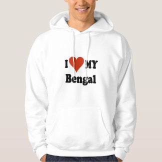 I Love My Bengal Cat Gifts and Apparel Hoodies