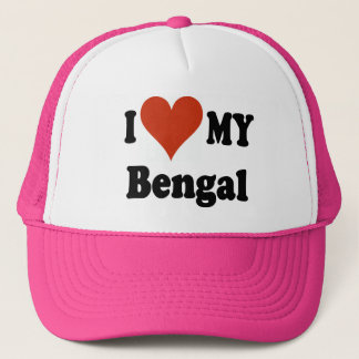 I Love My Bengal Cat Gifts and Apparel Trucker Hat