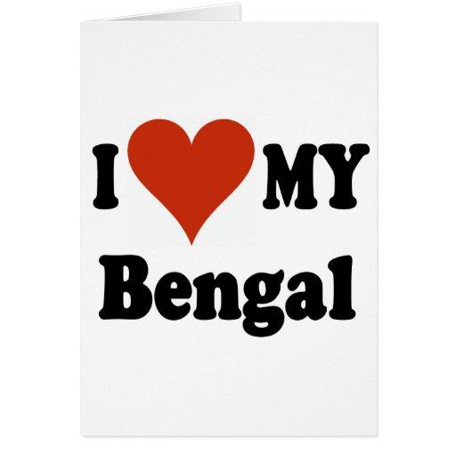 I Love My Bengal Cat Merchandise Card
