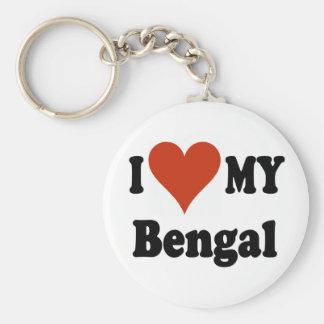 I Love My Bengal Cat Merchandise Keychain