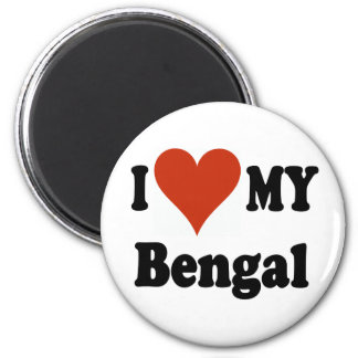 I Love My Bengal Cat Merchandise Magnet