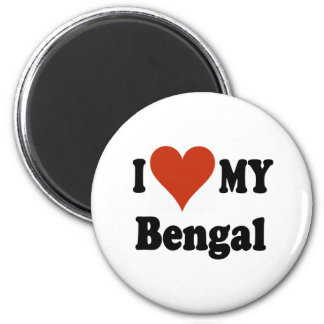 I Love My Bengal Cat Merchandise 2 Inch Round Magnet